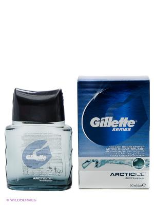 Лосьон после бритья, Series Arctic Ice GILLETTE. Цвет: синий