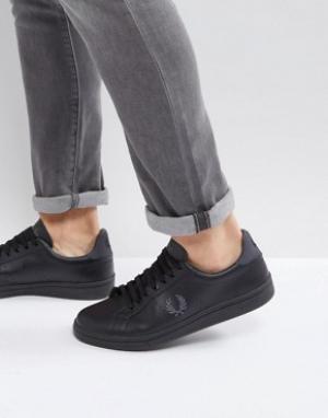 Fred Perry Кожаные кроссовки B721. Цвет: черный