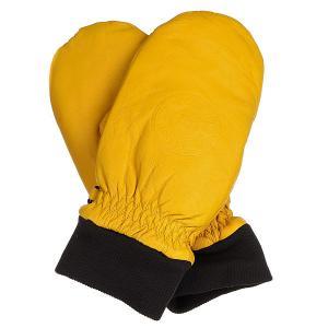 Варежки сноубордические DC Supply Dull Gold Shoes. Цвет: оранжевый
