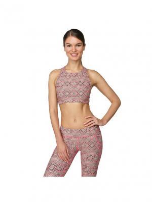 Топ Garuda Orient Urban Yoga. Цвет: черный,розовый