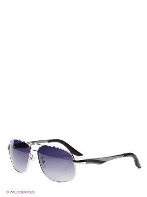 Очки солнцезащитные Selena. Цвет: черный, серый, серебристый