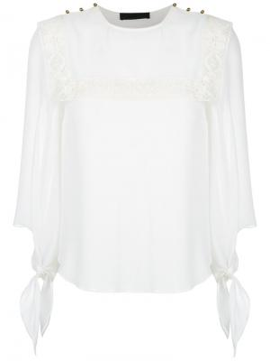 Lace inserts blouse Nk. Цвет: белый