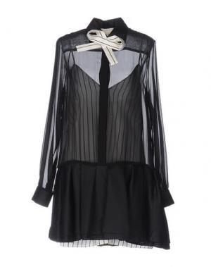 Короткое платье DANIELE CARLOTTA. Цвет: черный