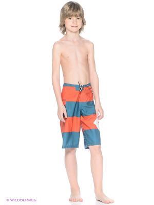 Бермуды LANAI ESS4-BY BOARDSHORT DC Shoes. Цвет: морская волна, оранжевый, белый