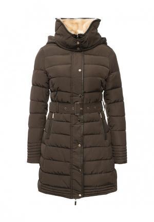 Куртка утепленная B.Style. Цвет: коричневый