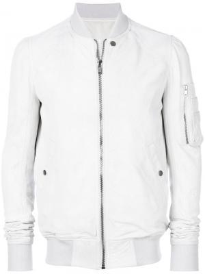 Куртка-бомбер Flight Rick Owens. Цвет: белый
