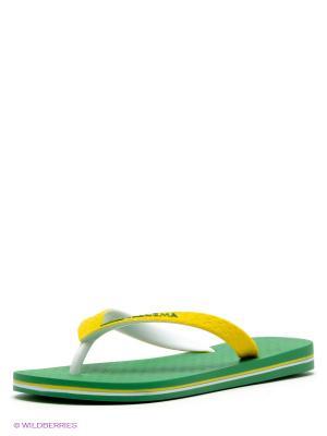 Шлепанцы Ipanema. Цвет: зеленый, желтый, белый