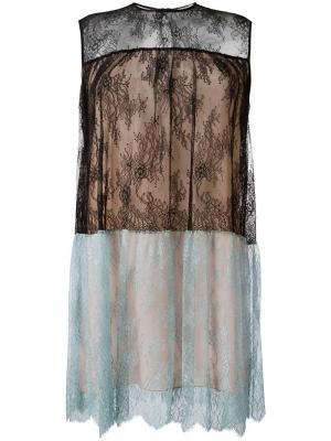Платье с кружевной вставкой Philosophy Di Lorenzo Serafini. Цвет: чёрный