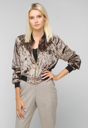Куртка Toryz. Цвет: коричневый