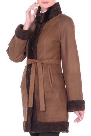 Дубленка Mondial. Цвет: коричневый