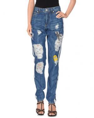 Джинсовые брюки FOLLOW US. Цвет: синий