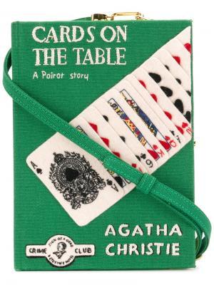 Клатч Cards On  Table Olympia Le-Tan. Цвет: зелёный
