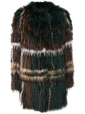 Свободное пальто Yves Salomon. Цвет: многоцветный