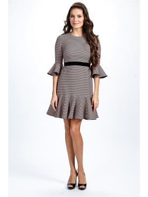 Платье мини из жаккарда Self Made