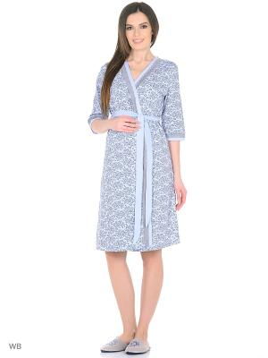 Комплект для беременных и кормящих FEST. Цвет: голубой, серый