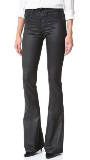 Меланжевые расклешенные джинсы с высокой посадкой DL1961. Цвет: нефтяное пятно