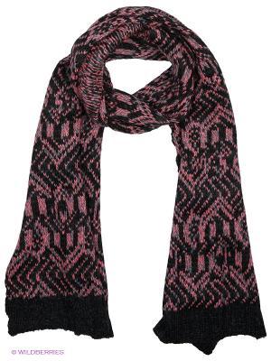 Шарф Pieces. Цвет: черный, розовый