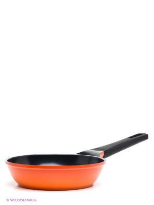 Сковорода Frybest. Цвет: оранжевый, черный