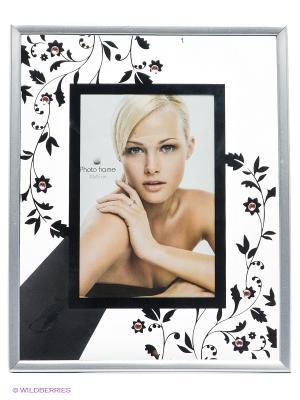 Фоторамка floral 1 VELD-CO. Цвет: серый, серебристый, черный