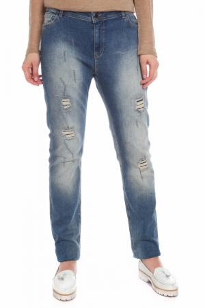 Брюки Fiorella Rubino. Цвет: голубой, джинса