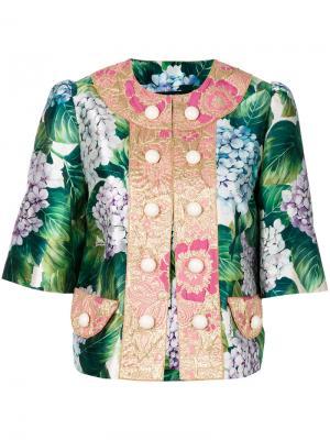 Пиджак на пуговицах с цветочным принтом Dolce & Gabbana. Цвет: многоцветный