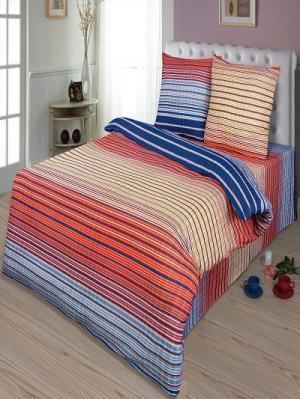 Комплект постельного белья тк.Бязь Кавалер Шоколад. Цвет: голубой, оранжевый, синий