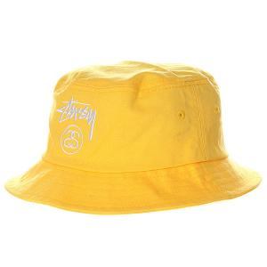 Панама  Stock Lock Bucket Hat Yellow Stussy. Цвет: желтый