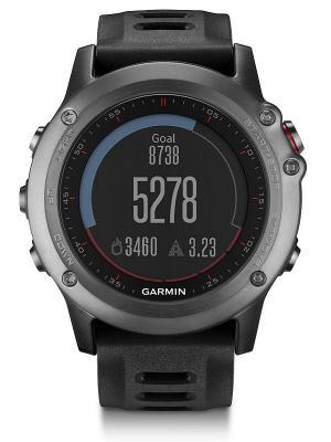 Часы для спорта и туризма fenix 3 Grey GARMIN. Цвет: серый