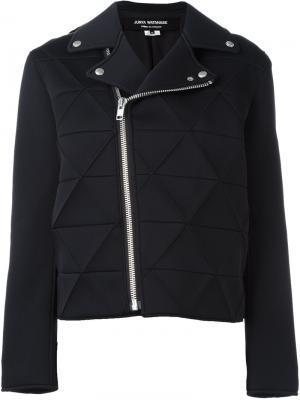 Байкерская куртка с панельным дизайном Junya Watanabe Comme Des Garçons. Цвет: чёрный