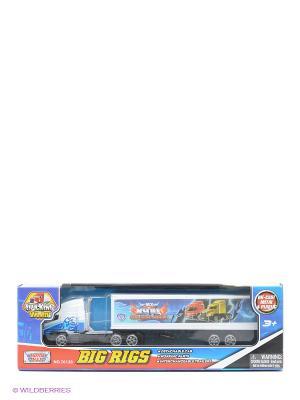 Грузовик с полуприцепом Motormax. Цвет: голубой