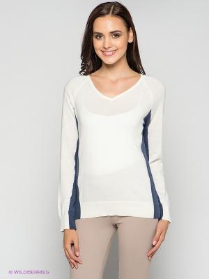 Пуловер MAVI. Цвет: молочный, синий