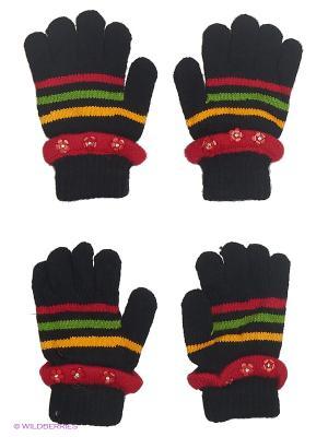 Перчатки, 2 пары FOMAS. Цвет: черный, красный