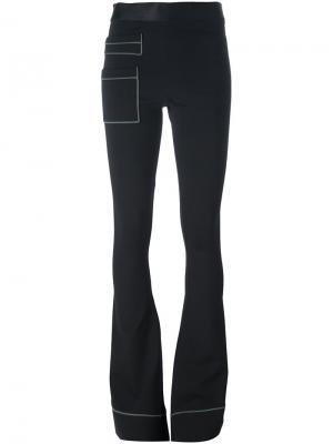 Расклешенные брюки Ssheena. Цвет: чёрный
