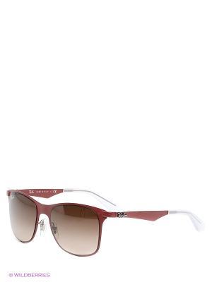 Очки солнцезащитные Ray Ban. Цвет: бордовый, коричневый