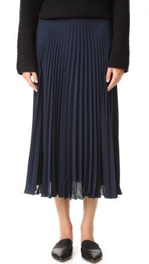 Плиссированная юбка Vince. Цвет: прибрежный