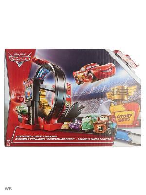 Трек МЕГА прыжок Mattel. Цвет: красный