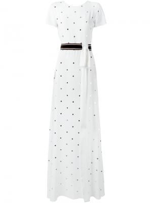 Декорированное платье Nº21. Цвет: белый