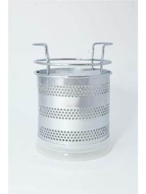 Сушилка для столовых приборов, металл, пластик, 10х15см Vetta. Цвет: белый