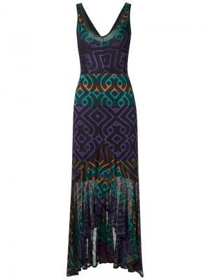 Трикотажное платье макси Cecilia Prado. Цвет: чёрный