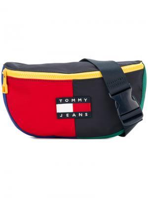 Сумка на пояс в стиле 90-х Tommy Jeans. Цвет: синий