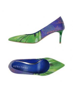 Туфли STRATEGIA. Цвет: зеленый