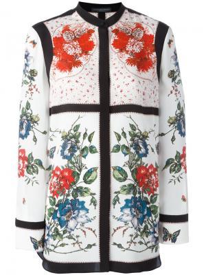 Блузка с цветочным принтом Alexander McQueen. Цвет: многоцветный