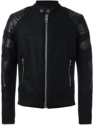 Байкерская куртка Les Hommes. Цвет: чёрный