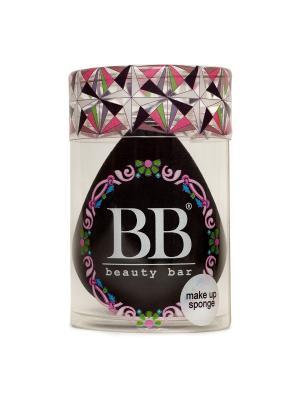 Спонж для макияжа цвета черный Beauty Bar. Цвет: черный