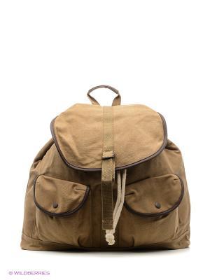 Рюкзак MANGO MAN. Цвет: хаки, темно-бежевый, бежевый