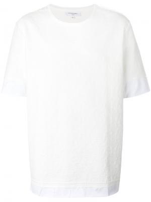 Двухслойная футболка Les Benjamins. Цвет: белый