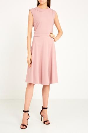 Розовое платье с расклешенным подолом Gucci. Цвет: розовый