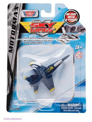 Коллекционная игрушка Самолет F.A 18 Hornet Motormax. Цвет: синий