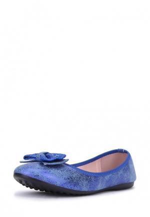 Балетки T.Taccardi. Цвет: синий