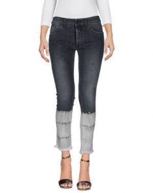Джинсовые брюки PALM ANGELS. Цвет: свинцово-серый